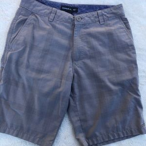 Oneill Mens Khaki Plaid Walk Shorts sz 30